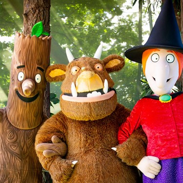 The Gruffalo, Stick Man and The Witch at Chessington World of Adventures Resort