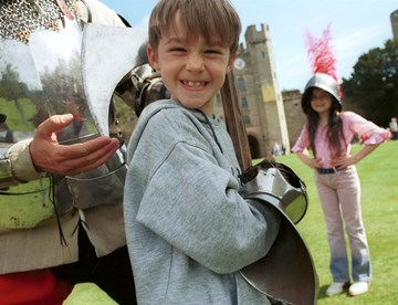 Kids Having Fun at Warwick Castle
