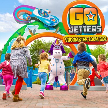 Go Jetters Vroomster Zoom Ride at CBeebies Land at Alton Towers Resort