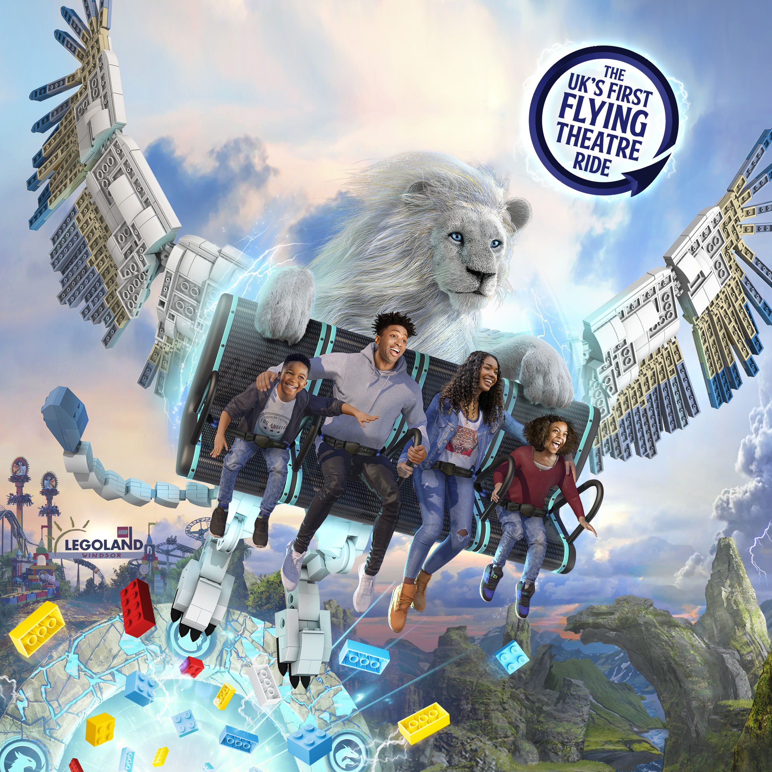 Flight of the Sky Lion in LEGO® MYTHICA at the LEGOLAND® Windsor Resort